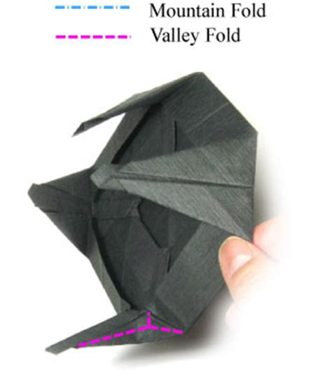 Origami Ufo - how to make a landed origami ufo page 17