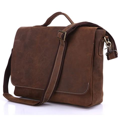 Handmade Laptop Cases - handmade vintage leather briefcase leather messenger bag