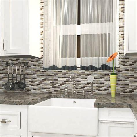neutral glass tile backsplash mosaic tile backsplash