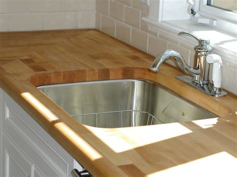 butcher block bathroom sink butcher block undermount sink