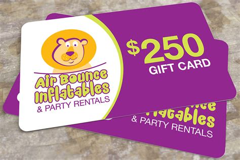 250 Gift Card - 250 gift card air bounce inflatables party rentals in hamilton burlington