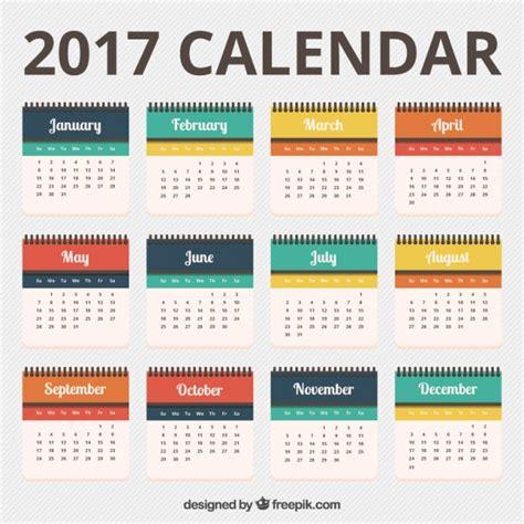 pretty calendar template pretty 2017 calendar template vector free