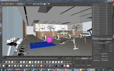 gym layout design software free gym fitness interior design idea with kids area 3d model