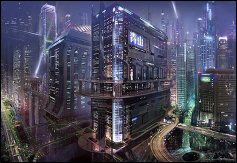 Modern City by Dsng S Sci Fi Megaverse Sci Fi Buildings And Futuristic