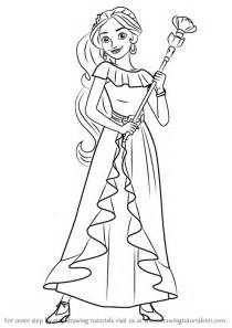 learn how to draw princess elena from elena of avalor