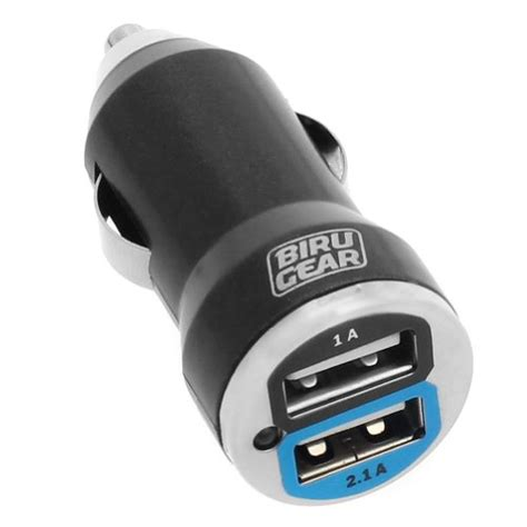 Car Charger Mobile Saver 3 In 1 Fdt birugear metalic black 2 port usb car charger adapter 2a output for cell phone smartphone