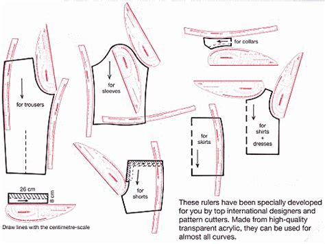 pattern drafting curves using a french curve design ruler for drawing pattern