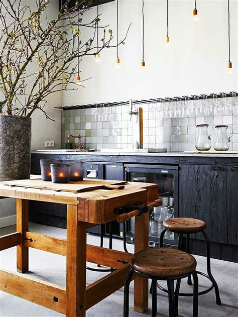industrial style kitchen island modern industrial home decor rustic style interior
