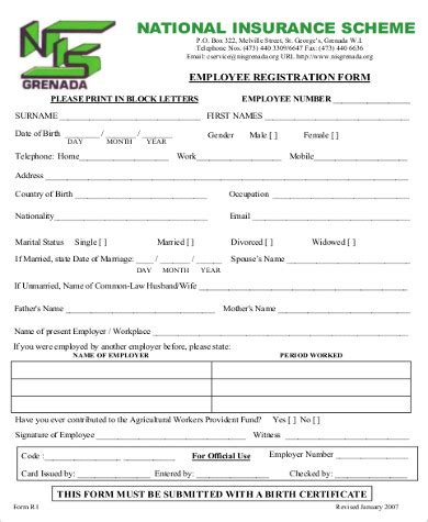 employee registration form 8 sle employee registration forms sle templates
