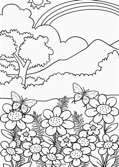 Free Coloring Pages Of Nature Free Nature Coloring Pages