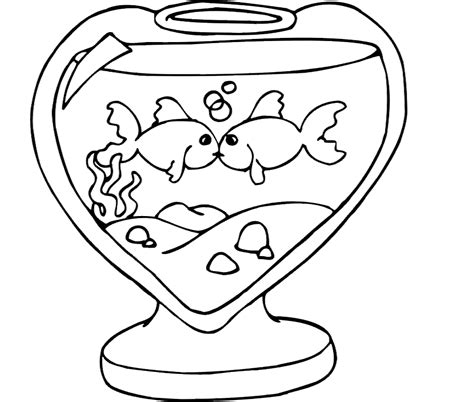 Fish Bowl Coloring Pages Coloring Home Bowl Coloring Pages