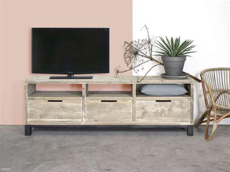 wohnzimmer schränke bauholz tv schrank im industriellen design mit stahl k 252 che