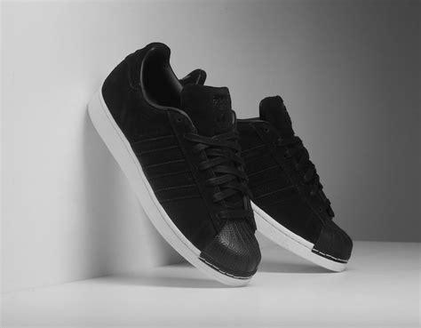 Sepatu Murah Adidas Superstar Suede In 1 adidas superstar suede black bz0201 sneakerfiles