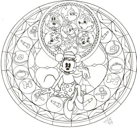 kingdom hearts coloring pages stained glass kh minnie stained glass wip by cutencuddlypadfoot on