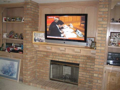 add a 60 quot tv a brick fireplace tv installation cost