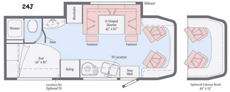 itasca rv floor plans new 2016 itasca navion 24j motor home class c diesel at