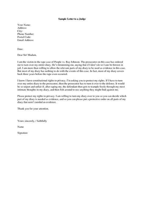 letter  judge template sample letter