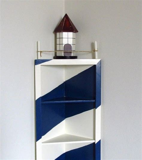 lighthouse corner shelf nautical decor display coupon