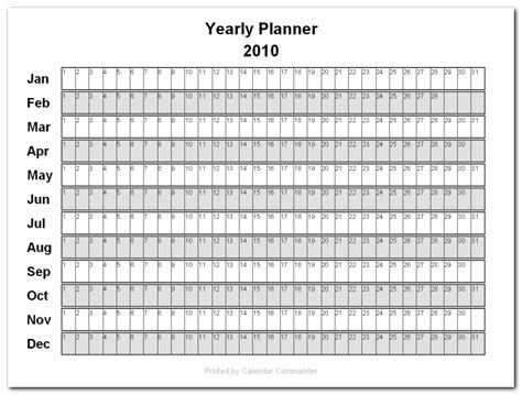 blank yearly calendar grid briggs softworks calendar commander sle calendars