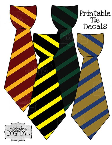 harry potter tie template best photos of harry potter ties printable free
