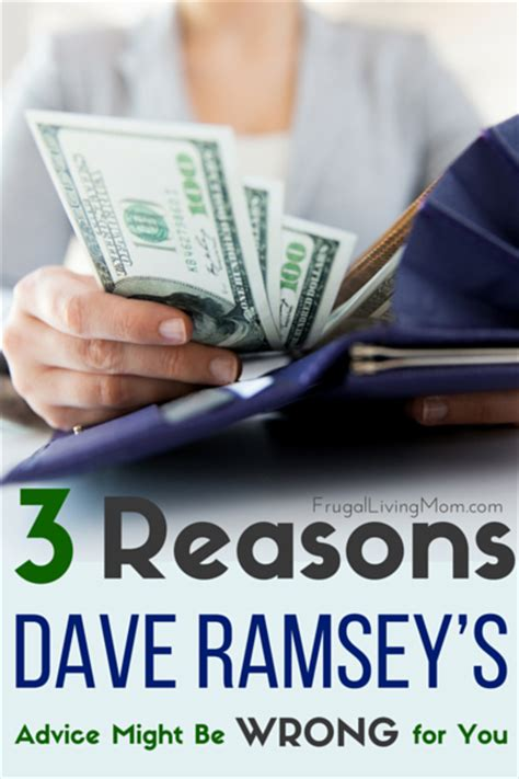 reasons dave ramseys advice   wrong