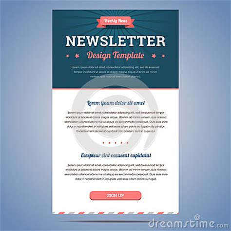 Newsletter Design Template Stock Vector Image 47537931 Sign Up For Our Newsletter Template