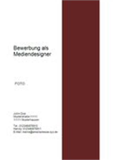 Bewerbung Deckblatt Rot Deckblatt F 252 R Bewerbung Farbige Deckbl 228 Tter Mit Modernem Stil