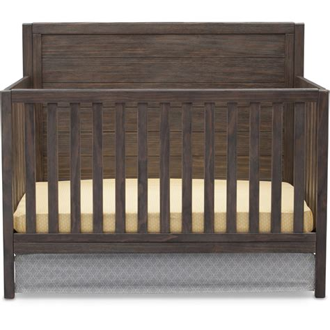 Wood Convertible Cribs Convertible Crib 4in1 Rustic Grey Wood Child Bedroom Nursery Toddler Bed Daybed Ebay