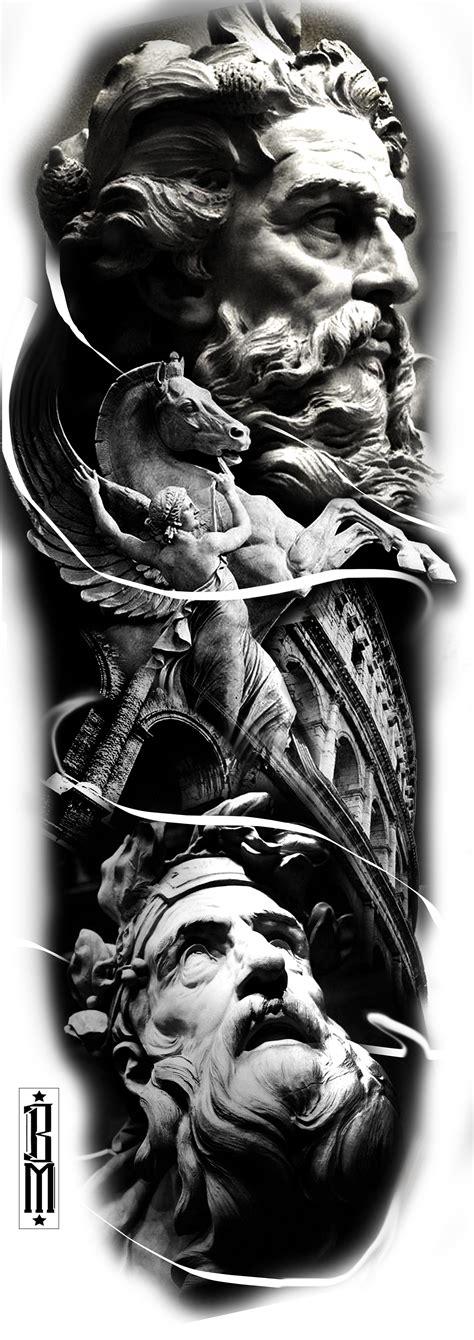 zeus tattoo flash zeus greek tattoo design sleeve leg black and grey tattoos