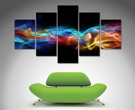 canvas prints fire and ice 5 panel wall art canvas printing australia
