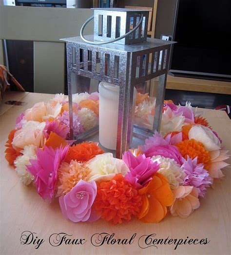 tissue paper flowers wedding reception tables venue