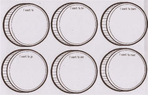 coin template classroom freebies pot of goals march writing prompt craft