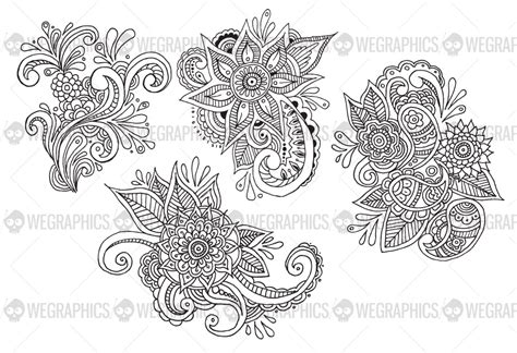 hand drawn flower pattern hand drawn floral paisley patterns