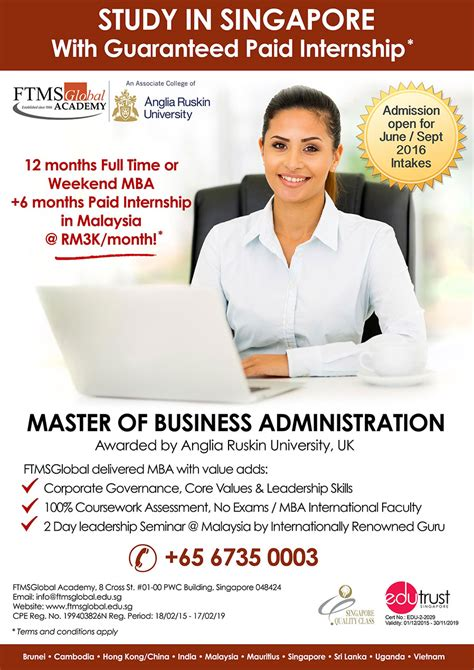 1 Year Mba In Singapore by Mba Weekend Course