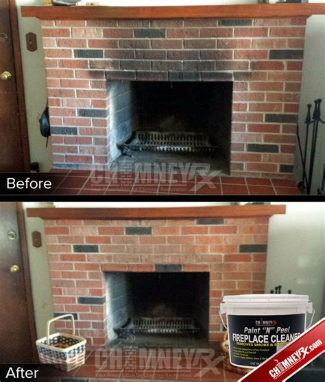 Brick Fireplace Cleaning chimney rx paint n peel fireplace cleaner chimney rx