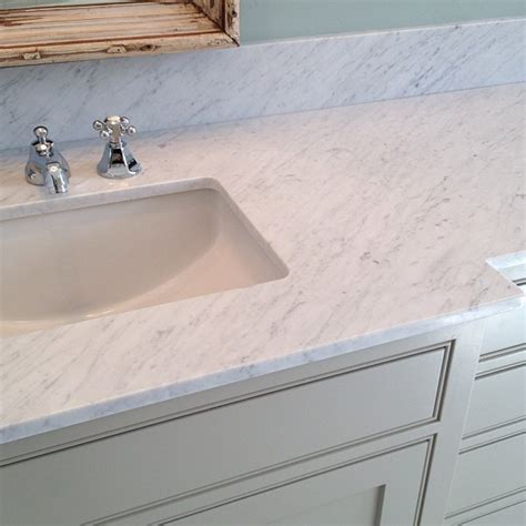 marble countertop for bathroom carrara marble countertop cottage bathroom rustic rooster interiors