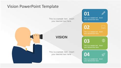 powerpoint template flat vision statement powerpoint graphics slidemodel