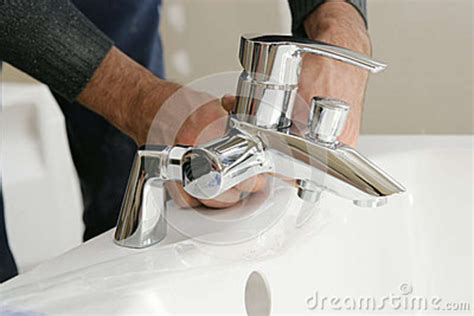 installing bathtub faucet taps royalty free stock photography image 34446477