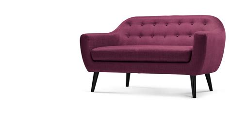 Ritchie Sofa by Ritchie 2 Seater Sofa Plum Purple Made