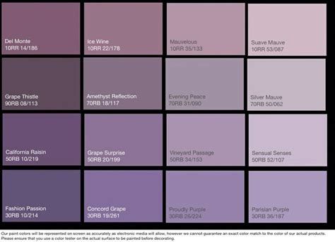 colour chart for bedrooms dark lilac paint google search my home decor