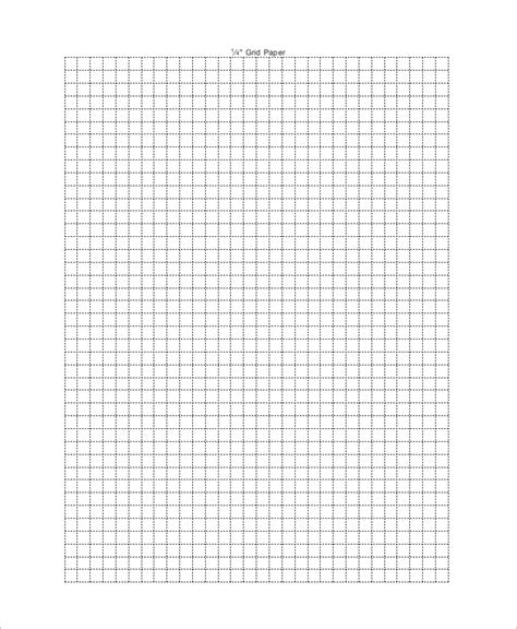printable grid paper inch graph paper 1 4 inch christopherbathum co