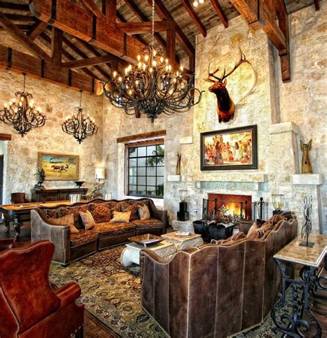 mixing old world style rustic old world design with truss ceiling and stone