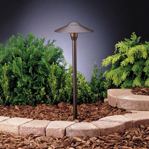 landscape path light kichler landscape textured architectural bronze path light