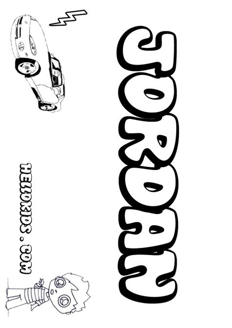 Coloring Pages Of The Name Jordan | jordan coloring pages hellokids com