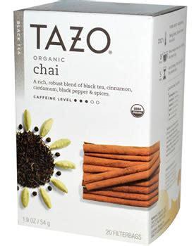 Caffeine in Tazo Chai