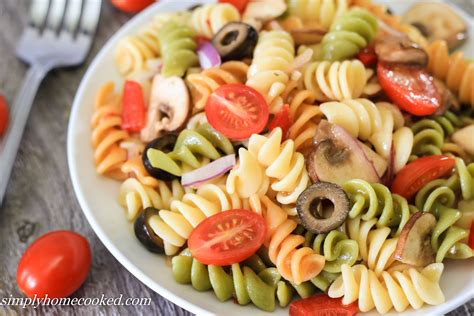 pasta salad with spaghetti noodles simply homecooked pasta salad
