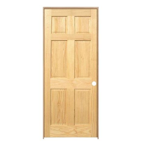 Prefinished Interior Wood Doors Jeld Wen 24 In X 80 In Woodgrain 6 Panel Prefinished Oak Single Prehung Interior Door 828453