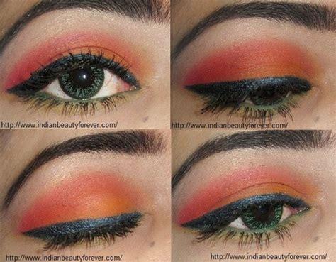 eyeliner tutorial indian orange summer eye makeup indian eastern makeup