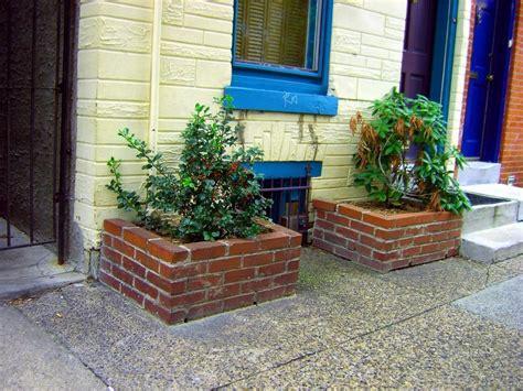 brick planter photos
