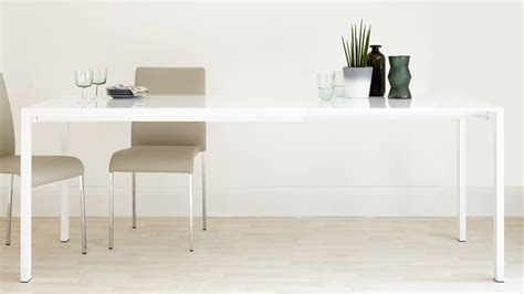 extending white high gloss dining table 10 seater